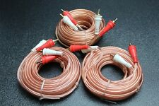 3 PCS 15 FT RCA WIRE AUDIOPIPE 2 CHANNEL CAR HOME AUDIO INTERCONNECT BMS-15