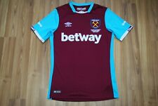 WEST HAM UNITED 2016/2017 HOME FOOTBALL SHIRT JERSEY UMBRO SIZE SMALL ADULT