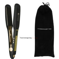 Titanium Flat Iron Hair Straightener with Digital LCD Display1.75 Inch Wide