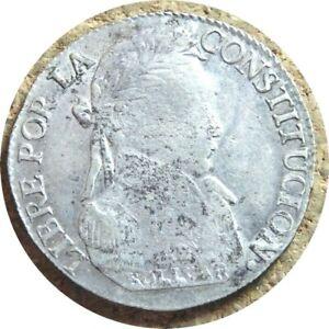 elf Bolivia 4 Soles 1830  PTS JL Silver Llama
