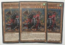 Yu-Gi-Oh! LED2-EN026 - 3 x Armed Dragon LV5 - 1st edition - Common