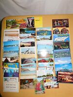 VINTAGE 56 TRAVEL BROCHURES & POSTCARD LOT
