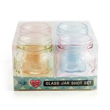 Colour Print Jar Shot Glass Set of 4
