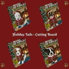 Christmas Stocking Hung Dog Cat Pet Tempered Glass Cutting Board Large 16x12 In