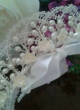 1920s VINTAGE WAX flower WEDDING TIARA HEADDRESS