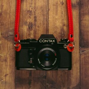 Red 120cm PU Leather Camera Strap For Canon Nikon Sony Olympus Leica
