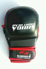Sibiga Leather MMA sparring gloves XL size Black Karate sparring martial arts