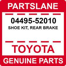 04495-52010 Toyota OEM Genuine SHOE KIT, REAR BRAKE