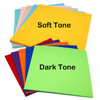 10Pcs Wool Mix Felt Craft Pack Soft Dark Colour Quality Fabric 30cm x 30cm NEW