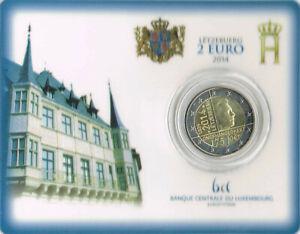 Luxembourg 2014 - 2 euros 175 ans Indépendance BU Coincard onofhängegkeet