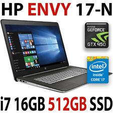 512GB SSD+ 1TB HDD HP Envy 17 i7 nVIDIA 950M (4GB) 16GB Laptop Win 10 PRO