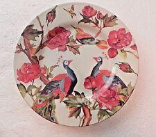 """Andrew Tanner 'PEACOCK ROSE' Dinner Plate/s 11"""" Royal Stafford"""