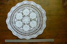 Hand Crochet Doily Centre Heavy Cotton WHITE Round Apprx 41-42cm across Rnd46/47