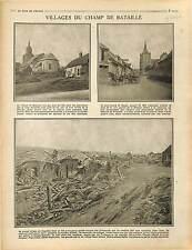Champ de Bataille de la Somme Village de Suzanne Bourg de Cappy Combles 1916 WWI