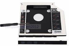 2nd Optical SSD HDD Hard Drive Enclosure Caddy for HP 240 250 255 455 G3 G4 G5