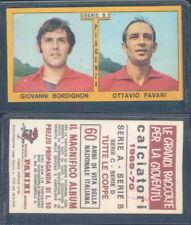 Calciatori 1969-70 Piacenza Bordignon Favari Panini