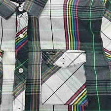 LRG Lifted Research Group Wovens Button Up Multi Color Plaid Shirt Men's XL
