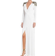 BCBGMAXAZRIA Wrap Gown - Anna Long Sleeve Embellished Pre Owned
