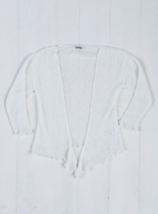 Fair Trade Loose Knit Off White Gringo Shrug, One Size 6 to 20 from Wyestyles