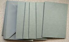 10 x A6 Pearl Linen Antique Silver Single Fold Card Blanks & silver Matt Env