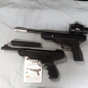 Benjamin model Trail NP Pistol and Ruger Mark I air gun Break Barrel
