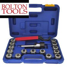 "R8 16 PCs Quick Change Set Collet Chuck End Mill Block Holder 1/8"" - 1"" Collets"