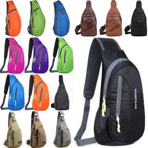 Mans Ladies Chest Bag Travel Crossbody Shoulder Sling Backpack Casual Handbag