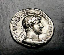 Hadrian. Stunning Denarius. Father of Antonius Pius. Ancient Roman Silver Coin.