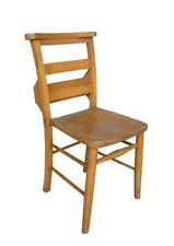 Antique Church / Chapel Chairs With Bible Backs - Wooden Solid