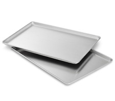 Half Cookie Sheet Commercial Brownie Baking Jelly Roll Pan Set of 2 Aluminum