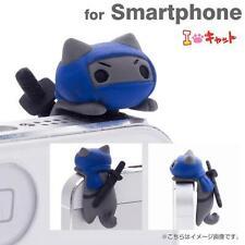 Niconico Nekomura Cat Earphone Jack Plug Accessory Samurai Edition (Ninja)