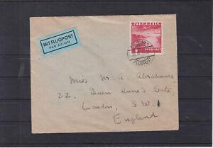 1S Einzelfrankatur auf Auslands Flugpostbrief nach England 28.7.1937