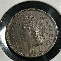 1874 INDIAN HEAD CENT HIGH GRADE SCARCE COIN