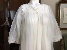 Vtg 50s Robe Sheer Nylon Van Raalte Full Sweep Long Robe Size Small a576c033a