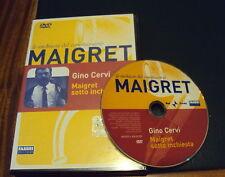 Le INCHIESTE del COMMISSARIO MAIGRET * il DVD * SOTTO INCHIESTA CERVI (ottimo)