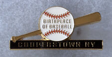 "COOPERSTOWN NEW YORK HOME OF BASEBALL BIRTHPLACE LOGO 1.5"" SOUVENIR PIN BUTTON"