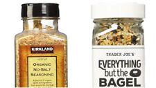 Kirkland Signature Organic No-Salt Seasoning & Trader Joe's Everything But Bagel