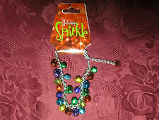 Multi-Colored Jingle Bells Christmas Holiday Bracelet