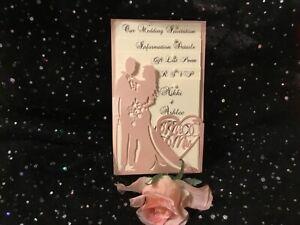 VINTAGE, RUSTIC, ELEGANT, PINK BLUSH, LASER CUT, WEDDING INVITATATION