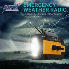 Emergency 4000mAh Solar Power Hand Crank Weather Radio Bank Charger Flash Light