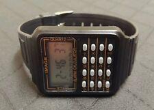 VINTIGE IMAGE ALARM CALCULATOR LCD HERREN ARMBANUHR NOS UNGETRAGEN 80ER