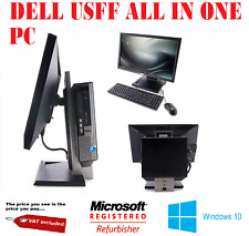 """DELL i5 USFF ALL IN ONE COMPUTER PC  DELL  22"""" WIDESCREEN TFT  240GB SSD HDD"""