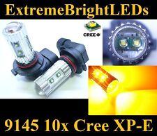 TWO Amber Orange 50W High Power 9145 H10 9140 10x Cree XP-E LED Fog Light bulbs