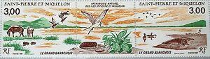 ST. PIERRE MIQUELON SPM 1987 554-55 505a Great Barachoise Nature Reserve MNH