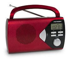 Radio tuner numérique FM portable rouge - Metronic 477201