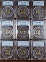 1953-S Jefferson Nickel Coin, PCGS MS-64