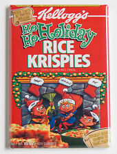 Christmas Holiday Rice Krispies FRIDGE MAGNET (2 x 3 inches) cereal box