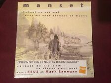 """GÉRARD MANSET """"ANIMAL ON EST MAL /COVER ME WITH FLOWERS OF MAUVE"""" 7"""" 45TOURS NEW"""