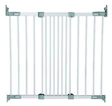 Callowesse/® Deluxe Retractable Stair Gate Tall Wide Baby Gate 10-110cm Grey Includes Spacers. Quiet 1 Handed Operation Use as Pet Gate or Safety Gate