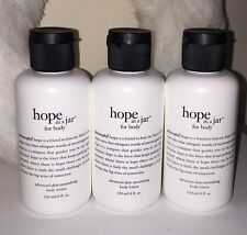 3 Philosophy HOPE IN A JAR For Body BODY LOTION 4 oz ea - NEW